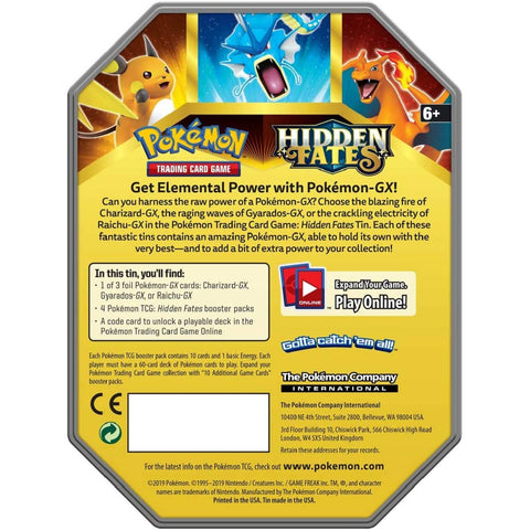 Image of Pokémon Hidden Fates Tin -  Gyrados