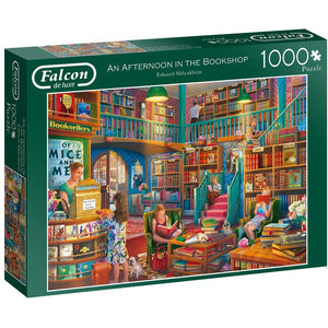 1000 Piece Jigsaw Puzzle | Afternoon at The Bookshop  | Falcon de Luxe