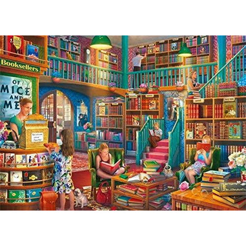 Image of 1000 Piece Jigsaw Puzzle | Afternoon at The Bookshop  | Falcon de Luxe