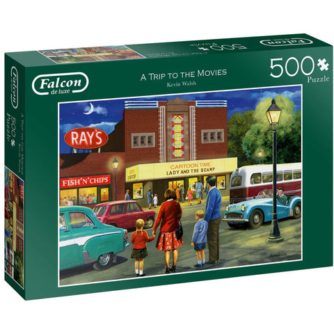 500 Piece Jigsaw Puzzle | A Trip to The Movies | 500 piece Falcon de Luxe