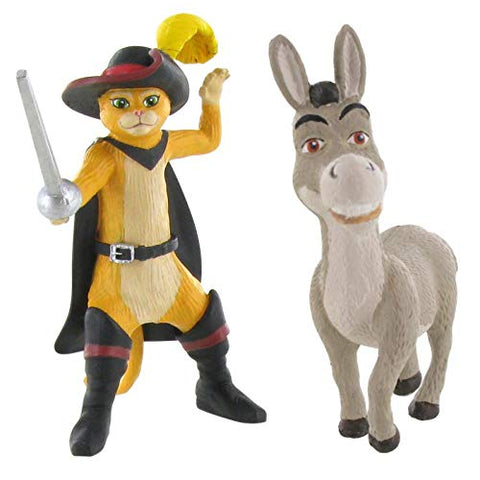 Shrek mini figure toys - Donkey and Puss in Boots