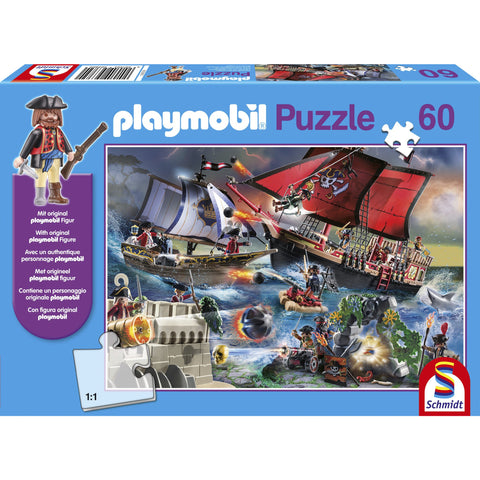 Image of Playmobil | Pirate Paradise 60 Piece Jigsaw |  Play Figure Included