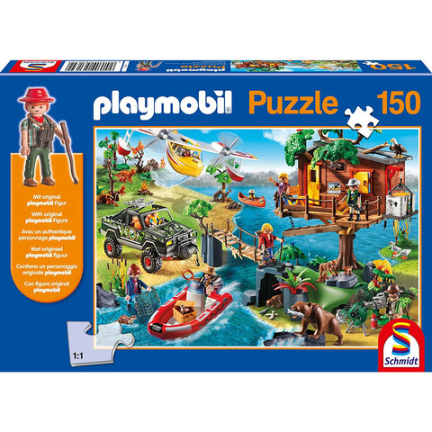 Image of Playmobil | Tree house 150 piece Jigsaw | Includes Figure