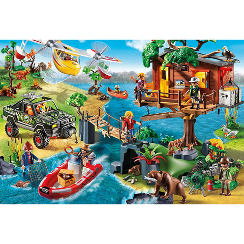 Playmobil | Tree house 150 piece Jigsaw | Includes Figure