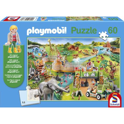 Image of Playmobil | Zoo Adventure 60 Piece Jigsaw |  Play Figure Included