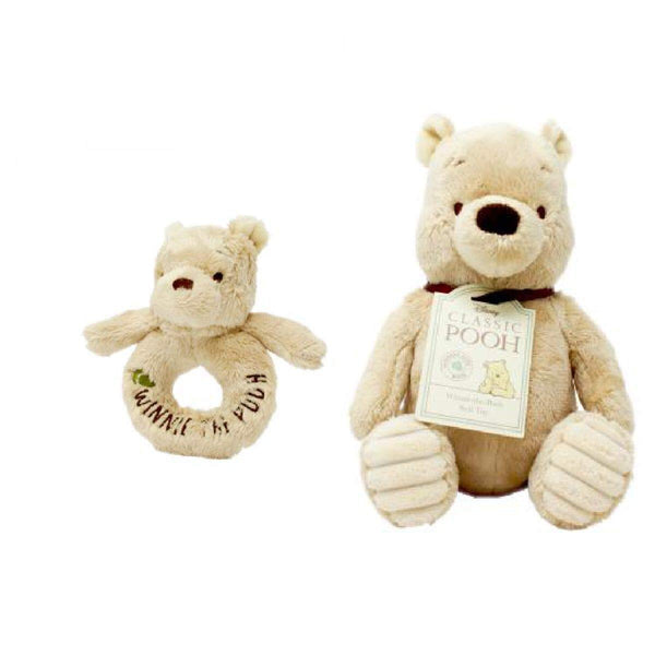 Pooh soft toy and rattle