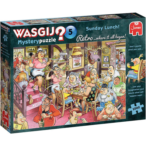 Image of Wasgij |  Retro 5 Sunday Lunch! | 1000 Piece Jigsaw Puzzle