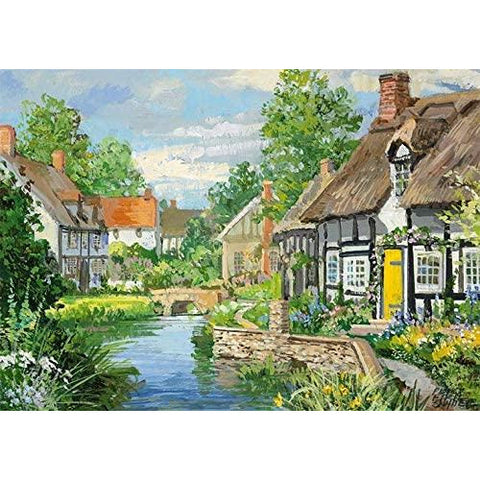 Image of 500 Piece Jigsaw Puzzle | Riverside Cottages | 2 x 500 piece Falcon de Luxe