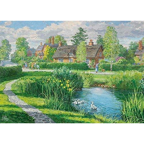 500 Piece Jigsaw Puzzle | Riverside Cottages | 2 x 500 piece Falcon de Luxe