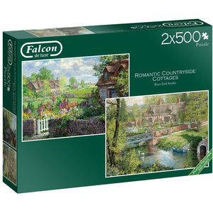 500 Piece Jigsaw Puzzle | Romantic Countryside Cottages | 2 x 500 piece Falcon de Luxe