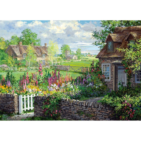 Image of 500 Piece Jigsaw Puzzle | Romantic Countryside Cottages | 2 x 500 piece Falcon de Luxe