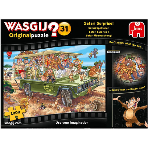 Image of Wasgij Original 31-Safari Surprise 1000 Piece Jigsaw