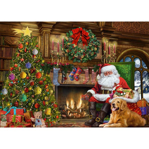 500 Piece | Santa by the Christmas Tree |  Jigsaw Puzzle