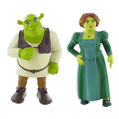 Shrek mini figure toys - Set of Shrek and Fiona