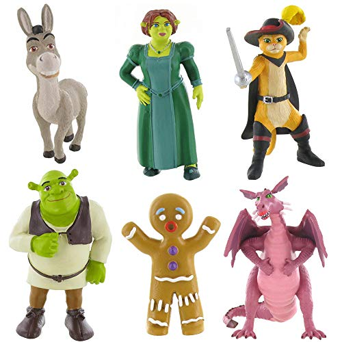 Shrek mini figure toys - Fiona, Shrek, Donkey, Dragon, Ginger or Puss in Boots - Choose your favourite