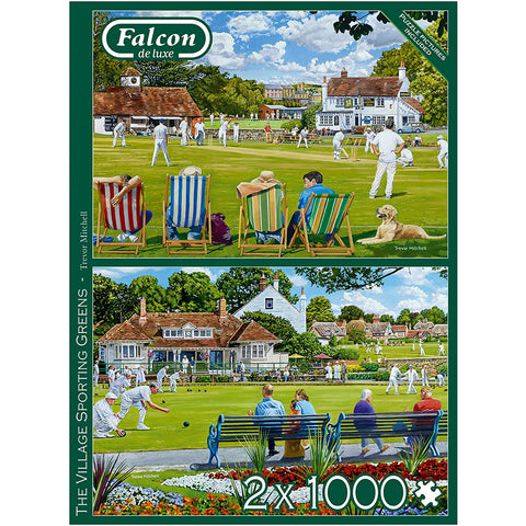 The Village Sporting Green | 2 x 1000 Piece Jigsaws | Falcon de Luxe