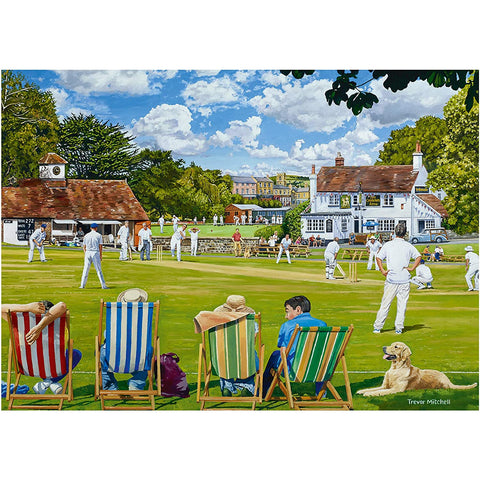 Image of The Village Sporting Green | 2 x 1000 Piece Jigsaws | Falcon de Luxe