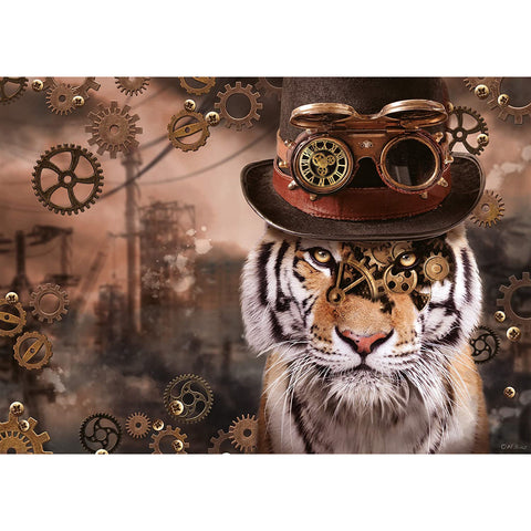 Image of 1000 Piece | Steampunk Tiger | Jigsaw Puzzle