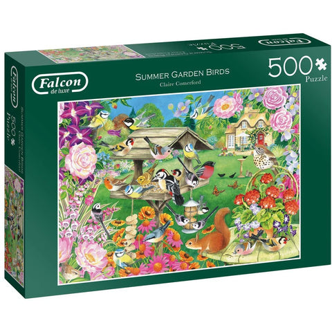 Image of 500 Piece Jigsaw Puzzle | Summer Garden Birds | 500 piece Falcon de Luxe