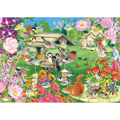 500 Piece Jigsaw Puzzle | Summer Garden Birds | 500 piece Falcon de Luxe