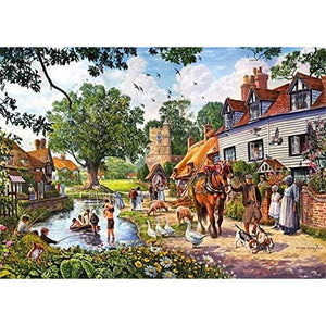 A Beautiful Summer's Day | 2 x 1000 Piece Jigsaw Puzzles | Falcon de Luxe