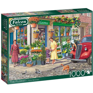 1000 Piece Adult Jigsaw Puzzle | The Florist  | Falcon de Luxe