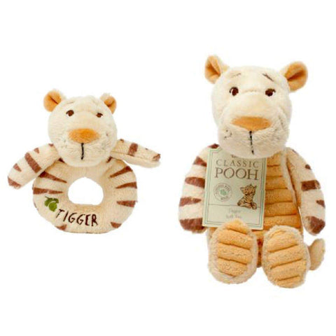 Tigger soft toy and Rattle-pooh