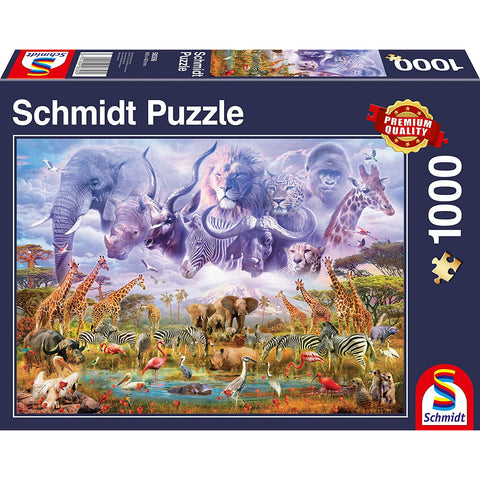 1000 Piece | Animals at The Watering Hole | Jigsaw Puzzle |  Schmidt