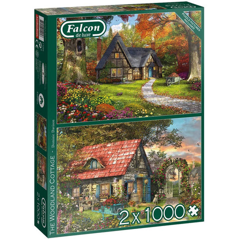 Woodland Cottages | 2 x 1000 Piece Jigsaws | Falcon de Luxe