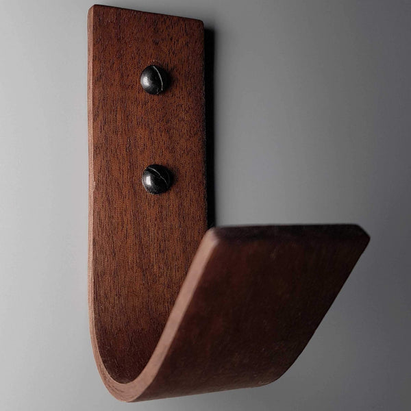 4 Pack American Black Walnut Steam Bent Wall Coat Hook - NOIR.DESIGN