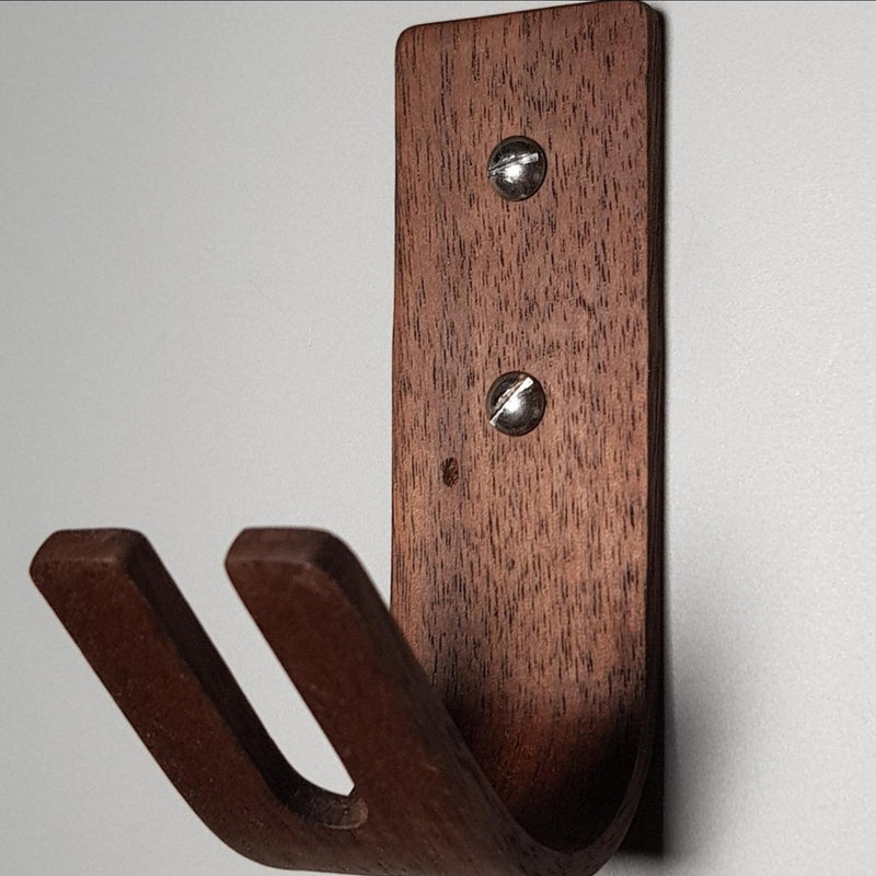4 Pack American Black Walnut Steam Bent Wall Key Hook - NOIR.DESIGN