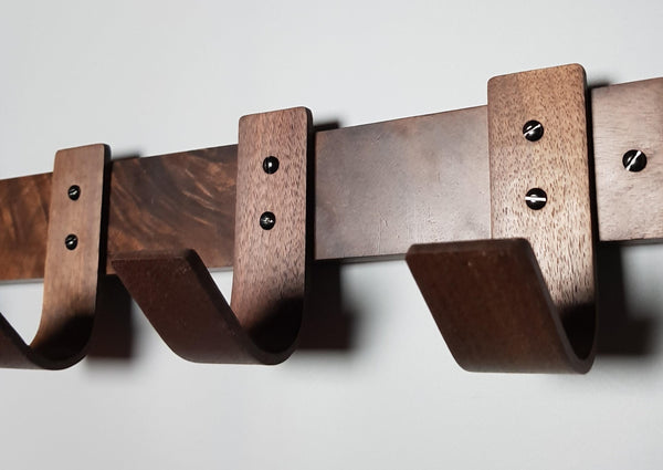 Dark Autumn Walnut Coat Rack - NOIR.DESIGN