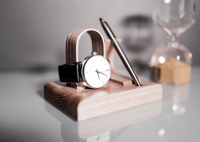 Personlised Watch stand and pen stand by noir.design