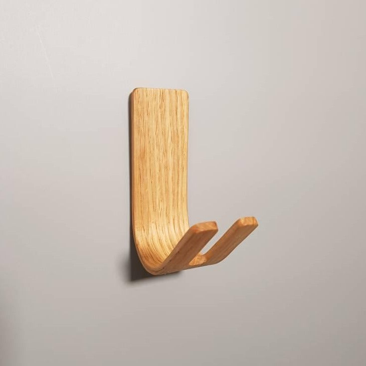 Monaco CK | Set of 4 Wall Key Hooks - Oak - NOIR.DESIGN