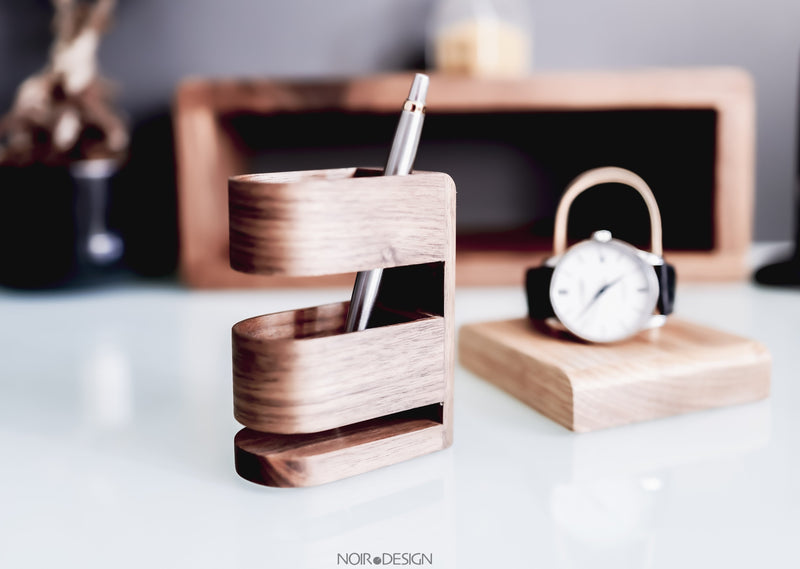 Swiss | Luxury Pen Pot Walnut