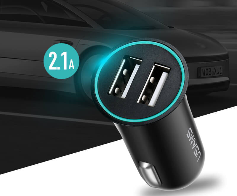 Dual USB 2.1A Car Charger Fast Charging Adapter for iPhone Samsung LG