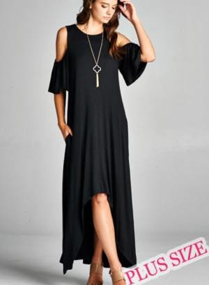 Kaylee Open Shoulder Maxi Dress