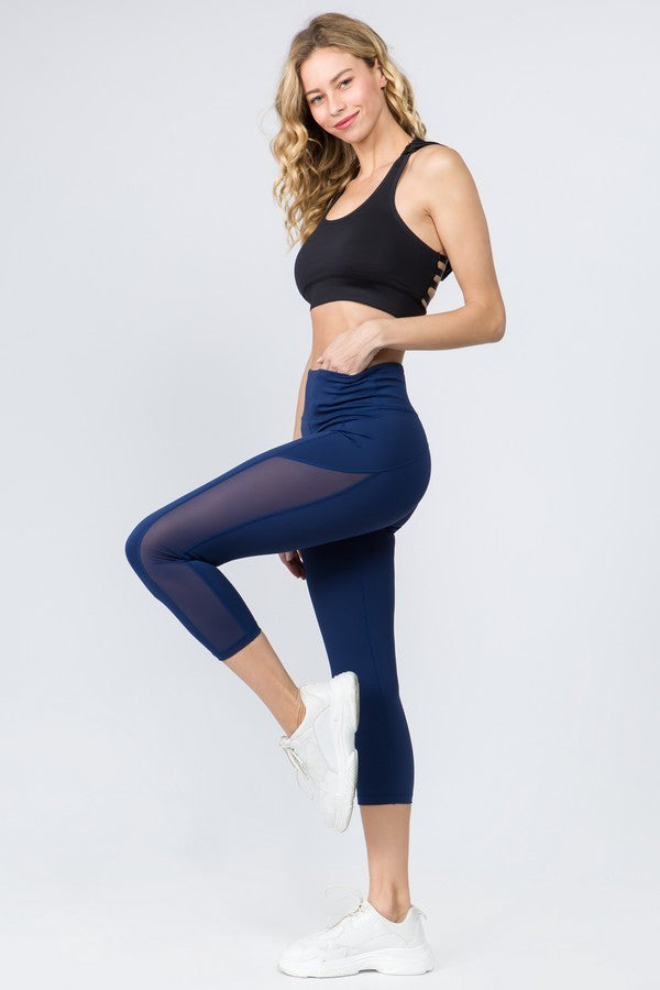 Navy Blue Crop Leggings