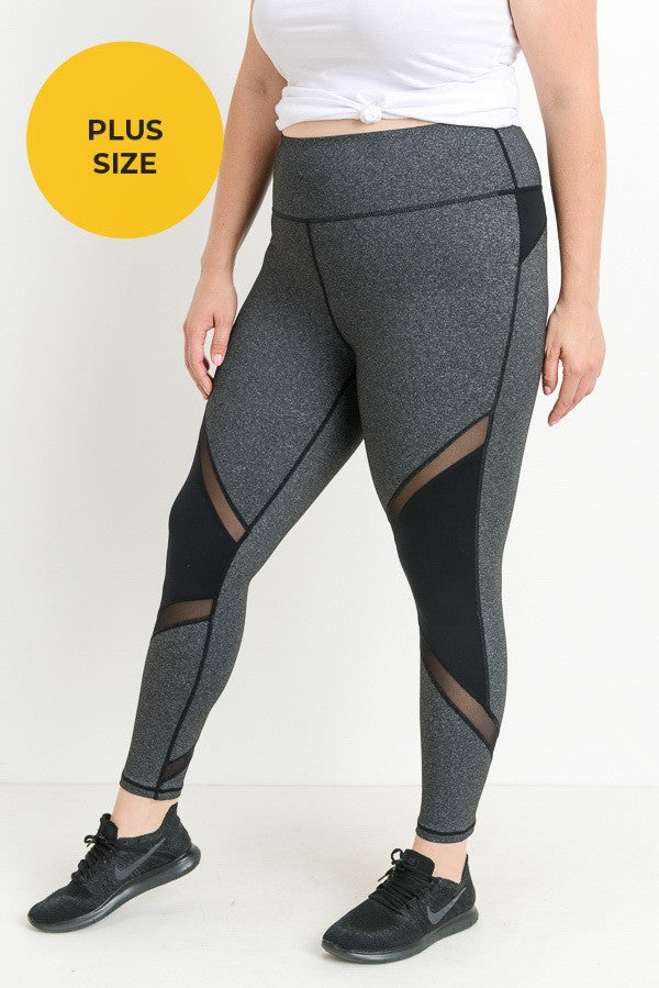 High Waist Curvy Leggings