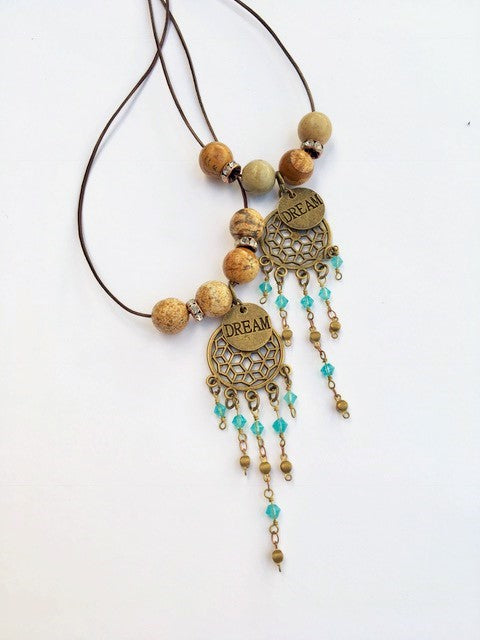 Dream Catcher Boho Necklace