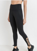 Black Side Lace-up Leggings