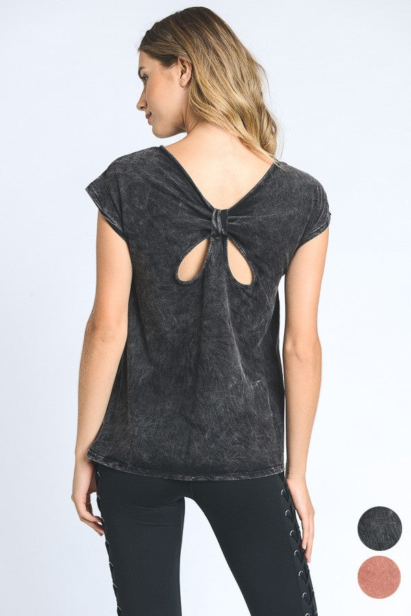 Butterfly Tie-Back Shirt