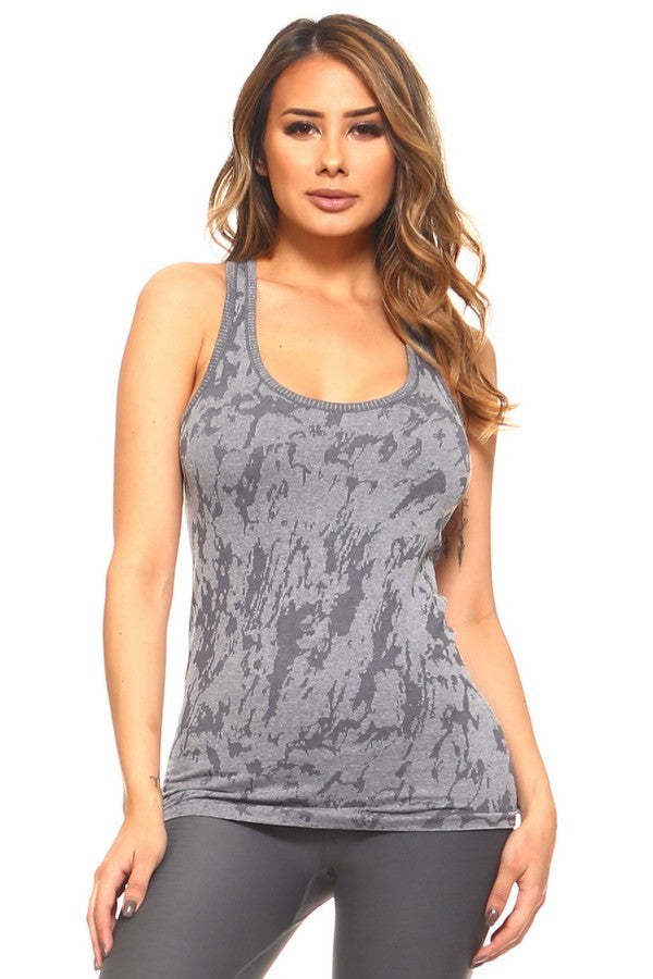 Gray Splatter Top