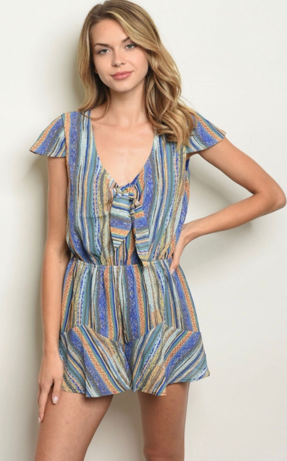 Gibson Striped Romper