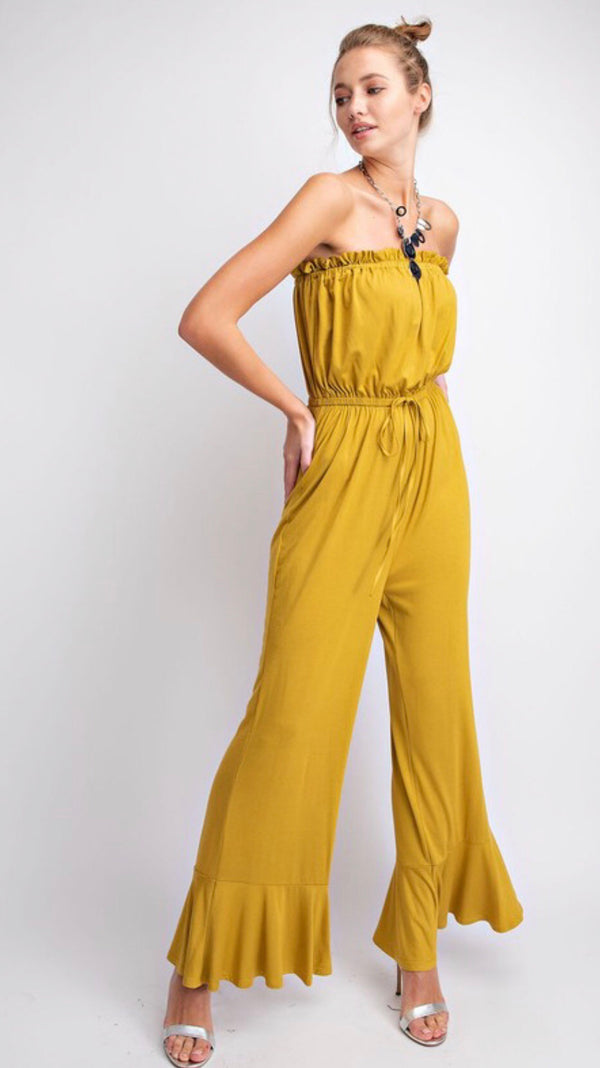 Buena Vista Strapless Jumpsuit