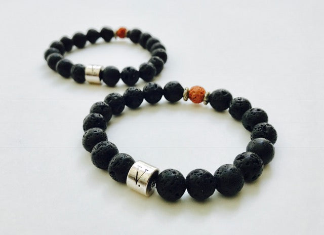 Men's Lava Bracelet (Essential Oil)