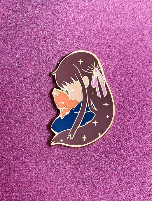 Tohru and Cat Pin