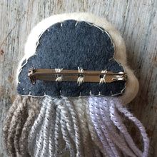 Grey Skies Rain Cloud Pin