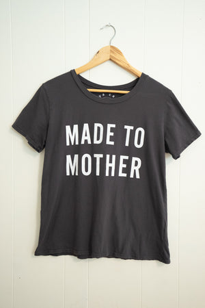 Made To Mother Tee | Charcoal