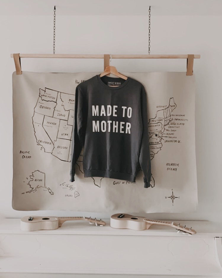 Made To Mother Sweatshirt- Charcoal